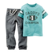 Carter's® Football Tee and Pull-On Pants - Baby Boys newborn-24m