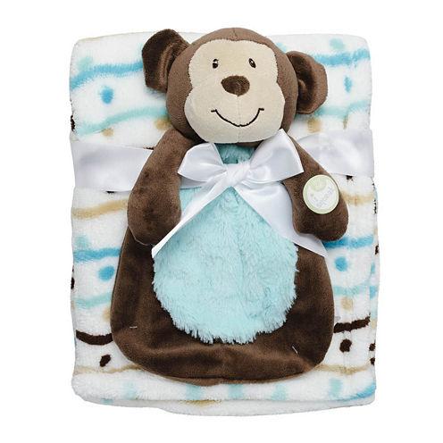 2-pc. Blanket and Monkey Doll Set