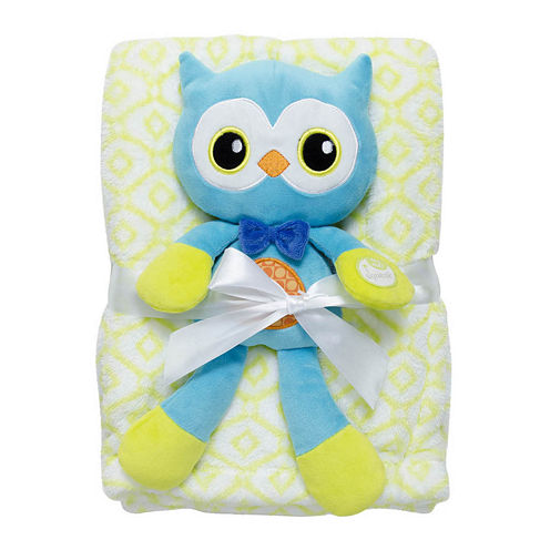 2-pc. Blanket and Owl Doll Set