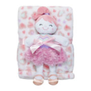 2-pc. Heart Blanket and Doll Set