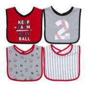 4-pk. Baseball Bibs