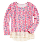 Arizona High-Low Lace Top - Preschool Girls 4-6x