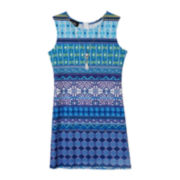 by&by Girl Knit Dress and Necklace - Girls 7-16
