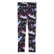 Electro Kitty-Print Leggings - Girls 7-16