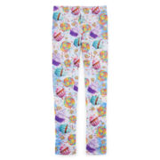 Cake & Lollipop-Print Leggings - Girls 7-16
