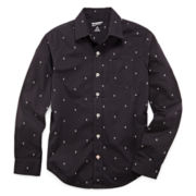 Arizona Skull Print Woven Shirt - Boys 8-20