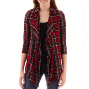 Self-Esteem 3/4-Sleeve Layered Plaid Shirt