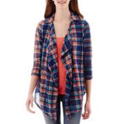 Self Esteem® 2 Piece Tank and Plaid Shirt Set