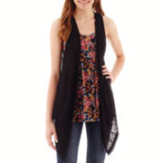 Self-Esteem Sleeveless Layered Tunic Vest