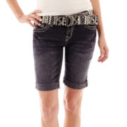 Wallflower Denim Bermuda Shorts