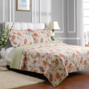 Greenland Home Fashions Barcelona Floral Quilt Set