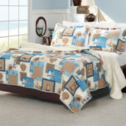 Greenland Home Fashions Beachcomber Coastal Quilt Set