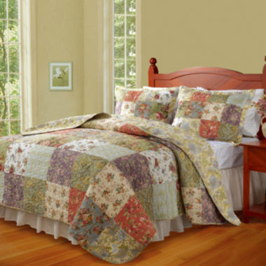 jcpenney.com | Greenland Home Fashions Blooming Prairie Floral Quilt Set