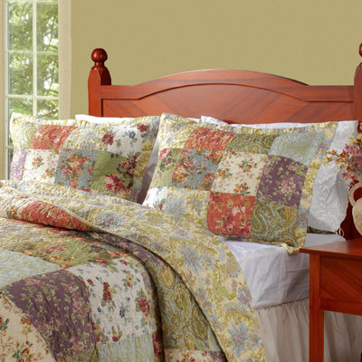 Greenland Home Fashions Blooming Praire Floral Quilt Set