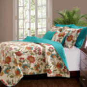 Greenland Home Fashions Clearwater Floral Quilt Set