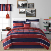 Rugby Stripe Complete Bedding Set with Sheets Collection