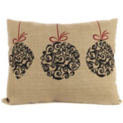 Christmas Dangling Ornament Decorative Pillow
