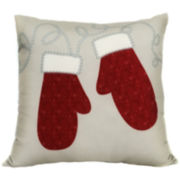 Winter Mitts Decorative Pillow