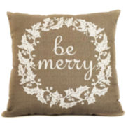 Winter Wreath Decorative Pillow