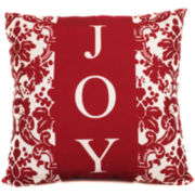 Joy Flourish Decorative Pillow