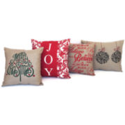 Rustic Holiday Decorative Pillows