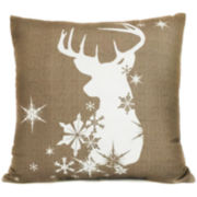 Snow Buck Decorative Pillow