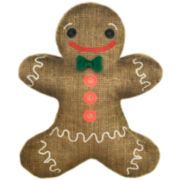 Shaped Gingerbread Decorative Pillow