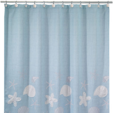 jcpenney.com | Avanti Sequin Shell Shower Curtain