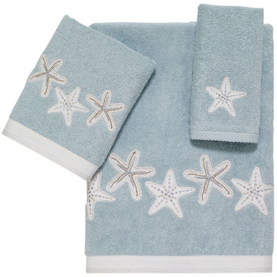 Avanti Sequin Shell Bath Towels