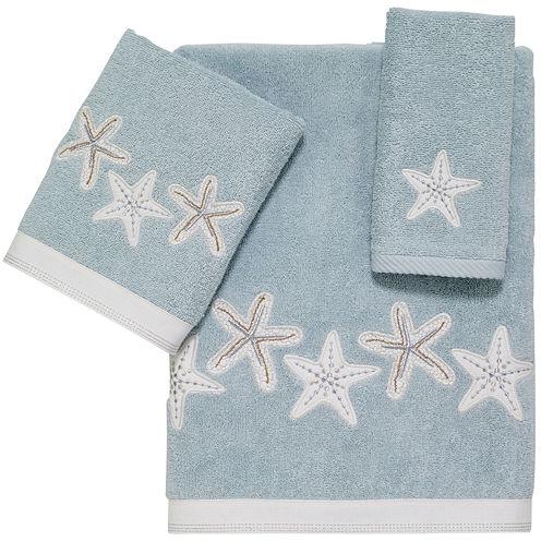 Avanti Sequin Shell Bath Towels