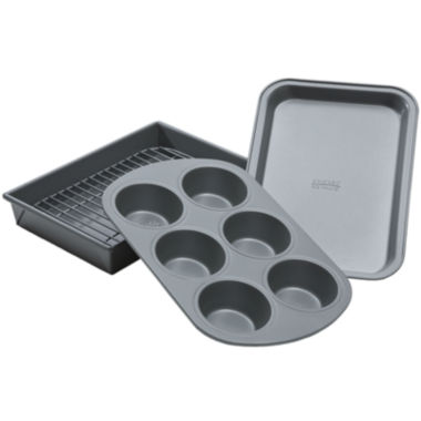 jcpenney.com | Chicago™ Metallic 4-pc. Toaster Oven Bakeware Set