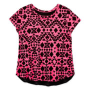 Total Girl® Knit High-Low Tee - Girls 7-16 and Plus