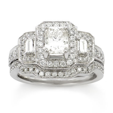 jcpenney.com | LIMITED QUANTITIES! 2 1/3 CT. T.W. White Diamond 14K Gold Cocktail Ring