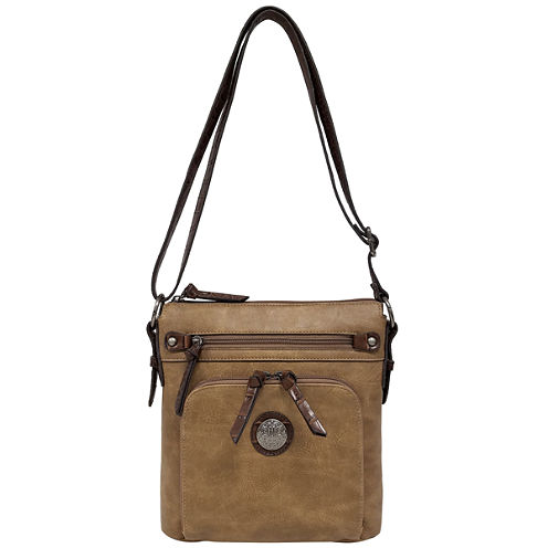 St. John's Bay® Textured Convertible Crossbody Bag