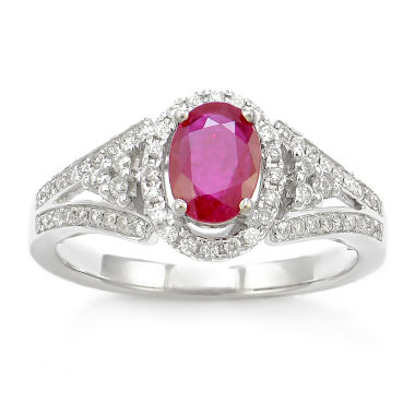 jcpenney.com | LIMITED QUANTITIES! 1/3 CT. T.W. Red Ruby 14K Gold Cocktail Ring