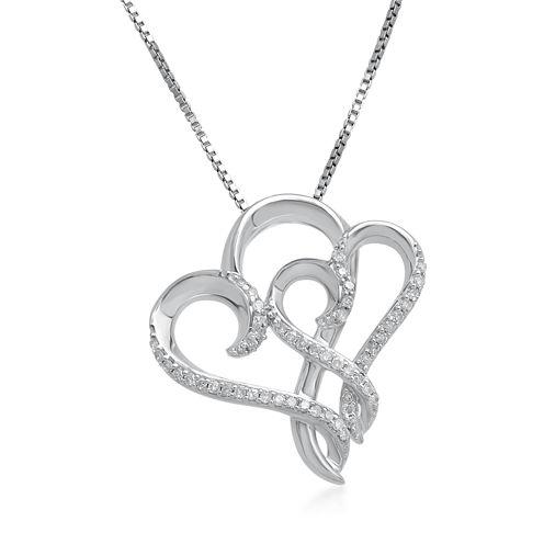 Hallmark Diamonds 1/7 CT. T.W. Diamond Sterling Silver Pendant Necklace