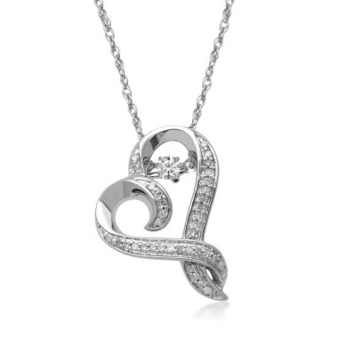 jcpenney.com | Hallmark Diamonds 1/4 CT. T.W. Diamond Sterling Silver Pendant Necklace
