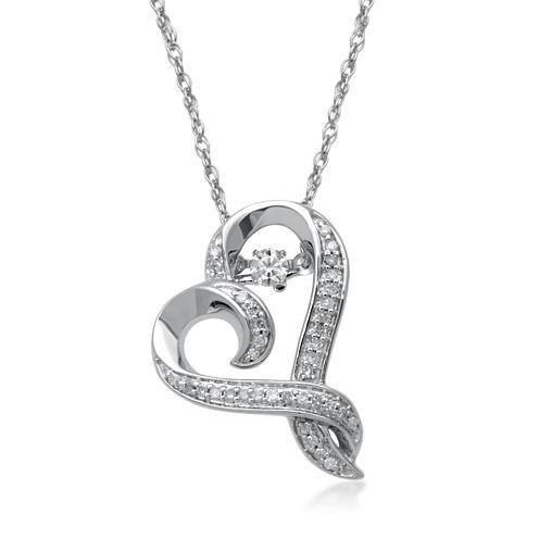 Hallmark Diamonds 1/4 CT. T.W. Diamond Sterling Silver Pendant Necklace