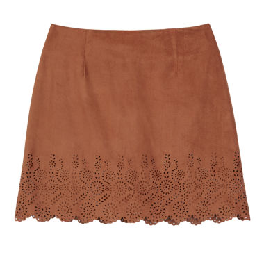 jcpenney.com | by&by  Faux-Suede Laser-Cut Skirt - Girls 7-16
