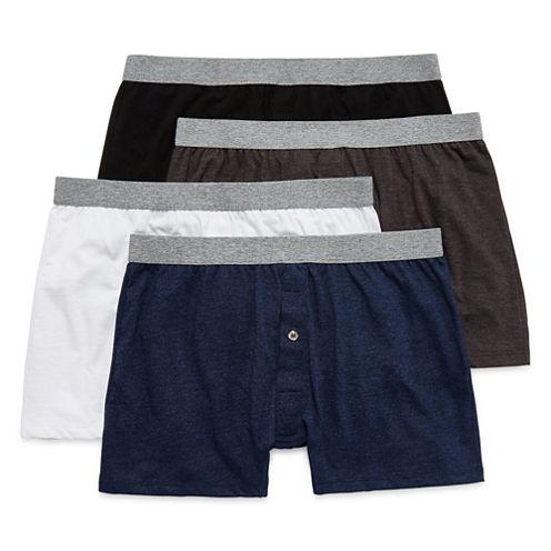 Stafford® 4-pk. Comfort Knit Boxers