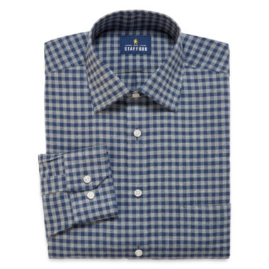 jcpenney.com | Stafford® Long-Sleeve Brushed Twill Dress Shirt - Big & Tall