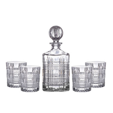 jcpenney.com | Portland 5-pc. Faceted Crystal Barware Set
