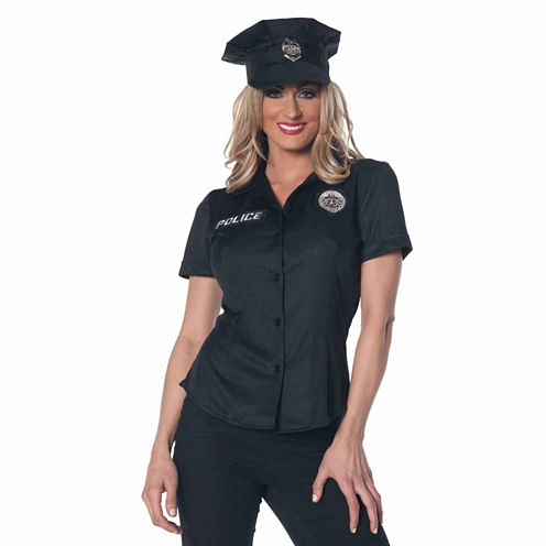 Police Officer Shirt - Adult Costume - Small