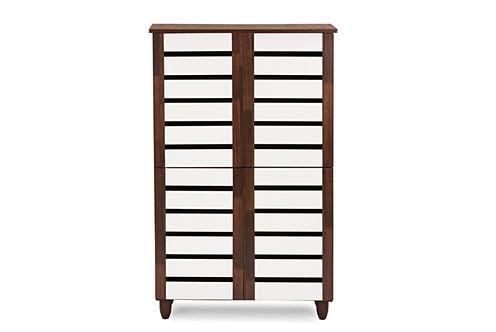 Baxton Studio Gisela 4-Door Accent Cabinet