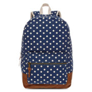 Olsenboye® Polka Dot Glitter-Trim Backpack