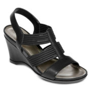 St. John's Bay® Veronica Strappy Wedge Sandals