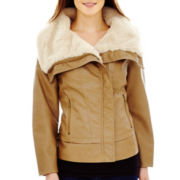 a.n.a® Faux-Fur Collar Moto Jacket