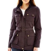 Liz Claiborne Belted 4-Pocket Jacket