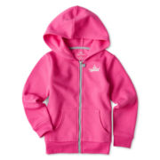 Okie Dokie® Hooded Fleece Jacket - Girls 2t-6