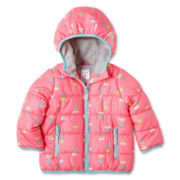 Carter's® Heart Pink Fleece-Lined Coat - Girls 12m-24m